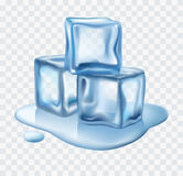 Ice cubes vector. Illustration on white background Stock Photo