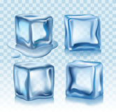 Ice cubes vector. Illustration on white background Stock Photos