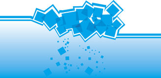 Blue background. Background with stylized ice cubes in the water Royalty Free Stock Images