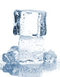 Ice cubes with water drops Stock Images