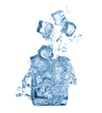 Ice cubes and water in glass Royalty Free Stock Photo