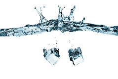 Ice Cubes in Water Royalty Free Stock Photos