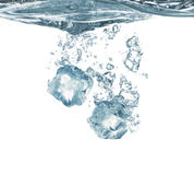 Ice cubes and water Royalty Free Stock Image