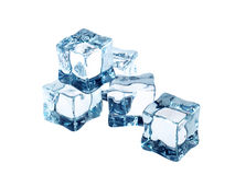 Ice cubes on white Stock Photo