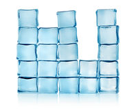 Figures from blue ice cubes Stock Photo