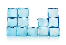 Figures from blue ice cubes  Royalty Free Stock Photo