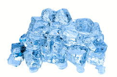 Ice cubes on white background Royalty Free Stock Photography