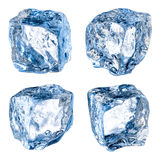 Ice cubes on white. With clipping path Royalty Free Stock Images