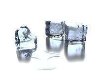 Ice Cubes  on White Royalty Free Stock Image