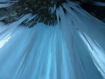 Ice Curtain, Icicle, Ice Formations Royalty Free Stock Photo
