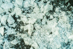 Ice cuts background texture. On  a sunny day Royalty Free Stock Photography
