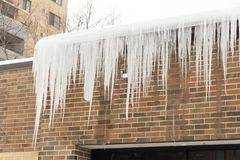 Free Ice Damming Of Gutter Royalty Free Stock Photography - 164168917