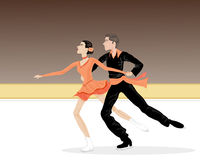 Ice dancers Stock Photography