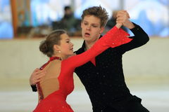 Ice dancing - Jana Cejkova and Alexandr Sinicyn Stock Image