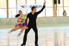 Ice dancing in Prague Stock Image