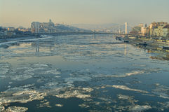 Ice on the Danube Royalty Free Stock Photography