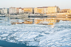 Ice on the Danube Royalty Free Stock Image