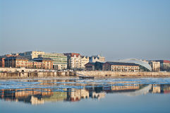 Ice on the Danube Stock Photography
