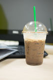 Ice dark mocha coffee Stock Photography