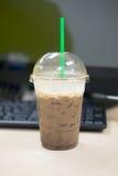 Ice dark mocha coffee Royalty Free Stock Image