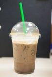 Ice dark mocha coffee Stock Photos