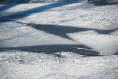 Debacle. Ice debacle at a spring day in March in Stockholm royalty free stock photo
