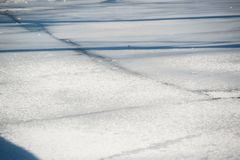 Debacle. Ice debacle at a spring day in March in Stockholm stock photography