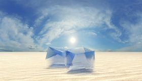 Ice in desert Royalty Free Stock Images