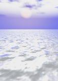 Ice desert. Illustration of winter day on northern pole Stock Photos