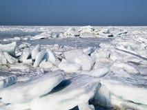 Ice desert. The ice desert stretches to the horizon Royalty Free Stock Image