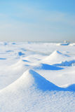 Ice desert winter landscape Royalty Free Stock Photos