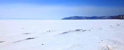 Ice dessert. Frozen Lake Baikal. Royalty Free Stock Photography