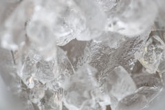 Ice in detail as a background Stock Photos