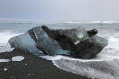 Ice detail on beach Stock Photos