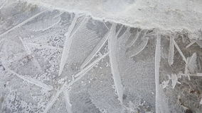 Ice details. Frosted ice textures Stock Photo