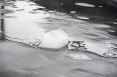 Ice details. Ice is the state in which the water stays when it is at low temperature and gives it the solid consistency Stock Image