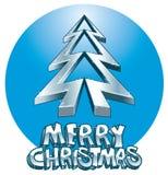 Ice Disco Xmas tree. Ice Xmas tree, disco Christmas message royalty free illustration