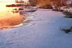 Ice on the Dnieper Stock Image