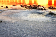 Ice on the Dnieper Royalty Free Stock Photo