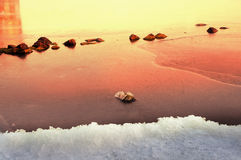 Ice on the Dnieper Stock Photo