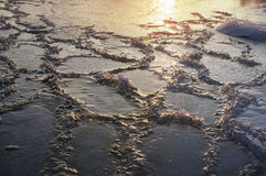Ice on the Dnieper Royalty Free Stock Photography