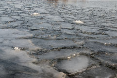 Ice on the Dnieper Stock Photos