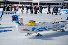 Ice Dragon Boat Stock Photo