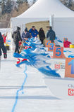 Ice Dragon Boat at Winterlude on Dow`s Lake Royalty Free Stock Photos