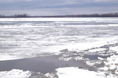 Ice drift on the river. Debacle, ice drift on the river Stock Photo