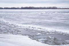 Ice drift on the river. Debacle, ice drift on the river Stock Image