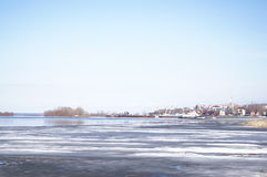 Ice drift on the river. Debacle, ice drift on the river Stock Photography