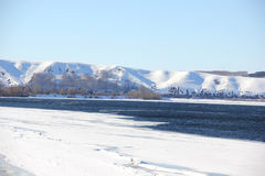 Ice drift on the river. Kama.Russia.Nizhnekamsk Royalty Free Stock Image
