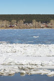 Ice drift on a river Royalty Free Stock Photography