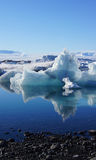 Ice drifting in Jokulsarlon in in east fjords in Iceland Royalty Free Stock Photo